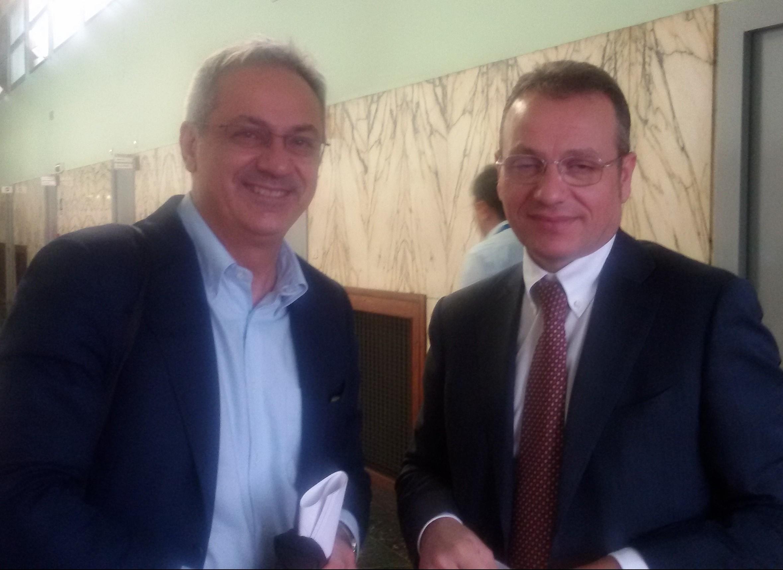 L'Onorevole Alessandro Bratti ed il Presidente Assopetroli Assoenergia Andrea Rossetti