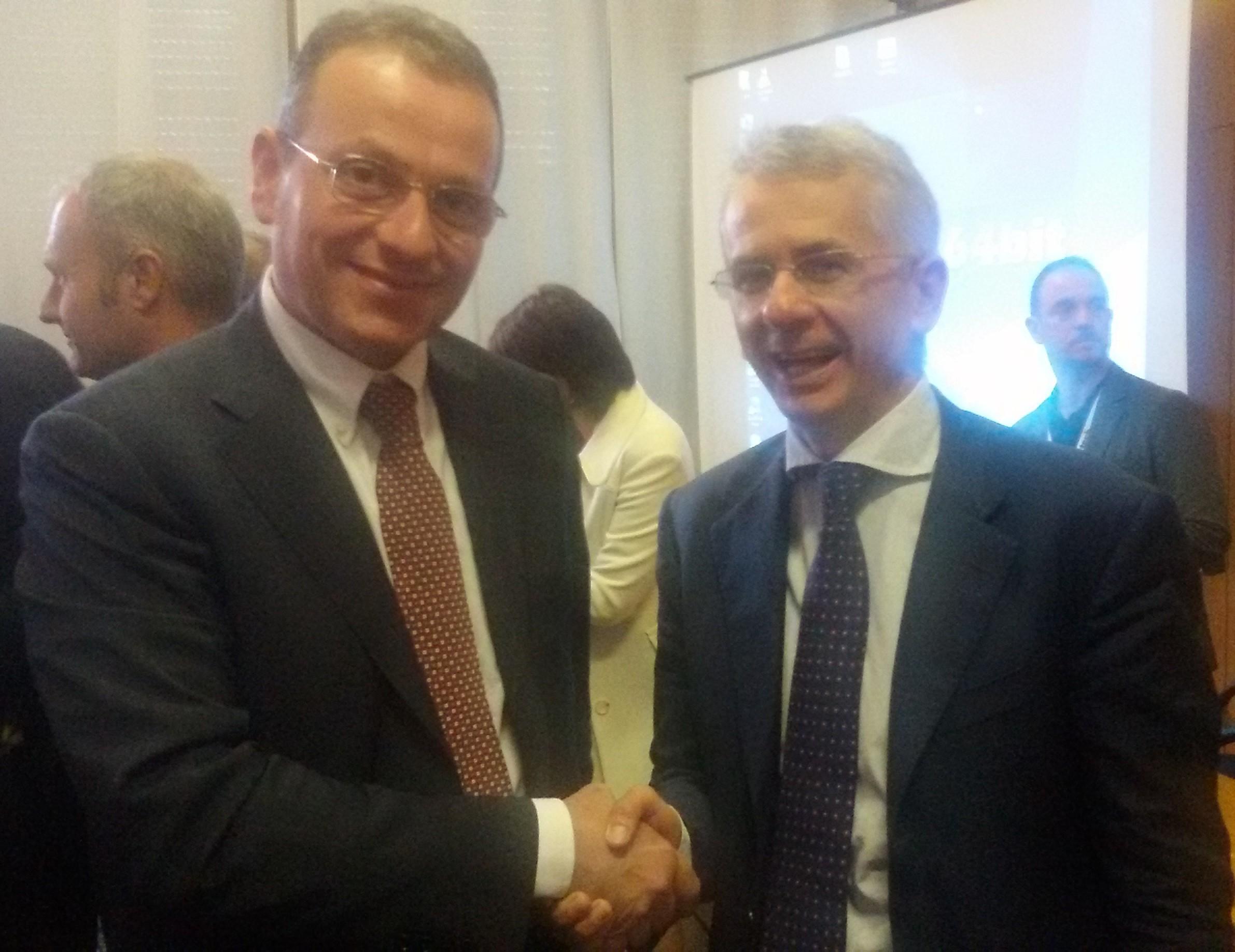 Il Sottosegretario alla Giustizia Ferri ed il Presidente Assopetroli Assoenergia Rossetti
